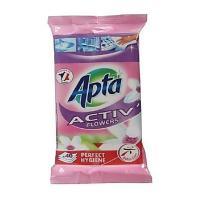 Апта почистващи кърпи антибактериални цветя 40 бр.