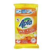 Апта почистващи кърпи антибактериални цитрус по 40 бр.