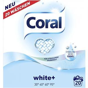 Корал Прах за Бяло Пране 20 Дози 1.4 кг